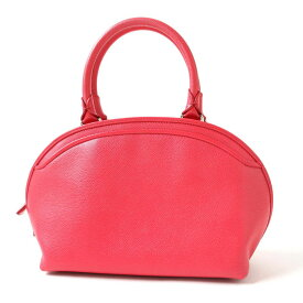 【中古】良品◎上質 MORABITO モラビト レディース オールレザー カッチリ ラウンドフォルム ハンドバッグ ピンク系 保管袋付き 可愛い♪