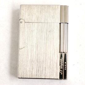 【中古】良品◆デュポン 18313 ギャッツビー ヘアライン ロゴ刻印入り ローラータイプ ガスライター シルバー フランス製 着火確認済み◎
