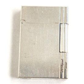 【中古】フランス製◆S.T.Dupont デュポン ギャッツビー ロゴ刻印入り ローラータイプ ガスライター シルバー 着火確認済み◎ 箱付き