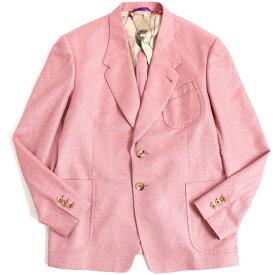 【中古】極美品▽ポールスミス ドーメル社製生地使用 裏地花柄 シルク67% シングルジャケット/テーラードジャケット ピンク系 LX 正規品 メンズ