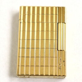【中古】良品◆S.T.Dupont デュポン ギャッツビー ロゴ刻印入り ローラータイプ ガスライター ゴールド フランス製 着火確認済み◎