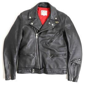 【中古】美品▽Lewis Leathers ルイスレザー サイクロン ZIPUP レザーライダースジャケット ブラック 40 イングランド製 メンズ