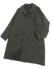 【中古】美品▽アルマーニ ARMANI COLLEZIONI エポレット付き ロングコート グレー 52 イタリア製 シンプルなデザイン◎