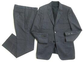 【中古】良品◎GUCCI グッチ 裏地インターロッキングG シングルスーツ 7-46R ネイビー 正規品 イタリア製 ビジネスシーン◎