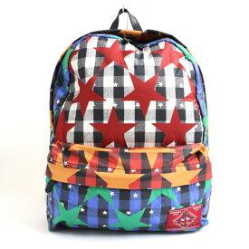 【中古】極美品●ヴィヴィアンウエストウッド CHECK ERED STARS チェックスター バックパック/リュック マルチカラー 日本製 保存袋付き メンズ