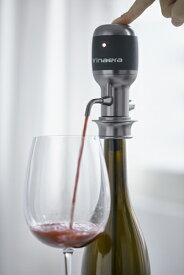 Vinaera(ビナエラ)電動ワインディスペンサー(VN-020) ボタン一つでおいしいワインを味わえる 特許技術でエアレーションを瞬時に行う 日本輸入元ならではのサポート対応 ワインポワラーとしても使える