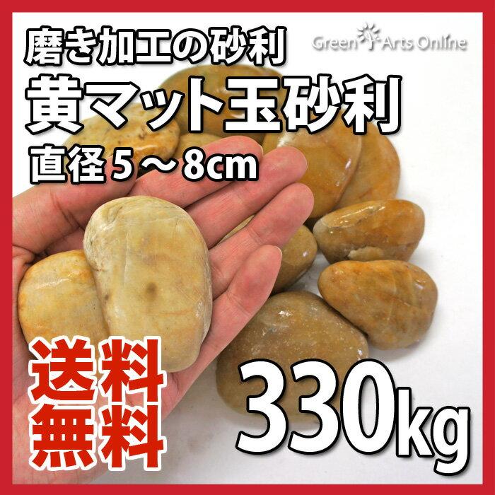 【アウトレット市場】黄マット玉砂利 / 直径約5〜8cm / 330kg