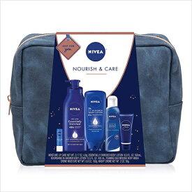 【エクスプレス便】NIVEA Pamper Time Gift Set - 5 Piece Luxury Collection of Moisturizing Products and Travel Bag Included ニベアギフトセット 保湿クリーム ボディウォッシュ 保湿リップクリーム トラベルバッグ付き 【送料無料】