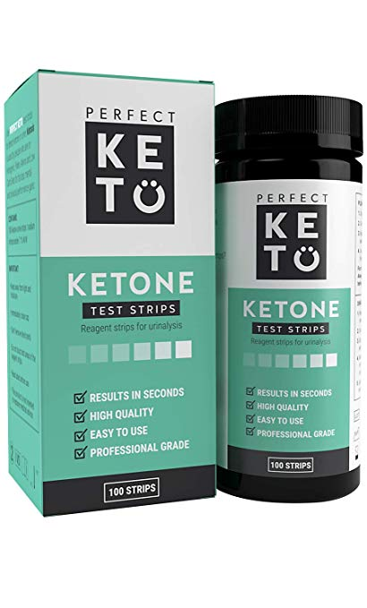 Perfect KETO ケトン体 ケトン 試験紙 尿検査 ケト スティック 100枚入り 40秒 ケトダイエット 検査 ケトン ケトーシス ダイエット 糖質制限 KETON