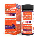 Just Fitter Ketone Test Strips 125 枚入り ケトン体 ケトン 試験紙 尿検査 ケト スティック 15秒 ケトダイエット …