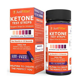 Just Fitter Ketone Test Strips 125 枚入り ケトン体 ケトン 試験紙 尿検査 ケト スティック 15秒 ケトダイエット 検査 ケトン ケトーシス ダイエット 糖質制限