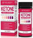 TOP NOTCH NUTRITION Ketone Test Strips 125 枚入り ケトン体 ケトン 試験紙 尿検査 ケト スティック ケトダイエッ…