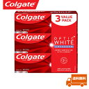 【海外メール便】 【お得な3本セット】 ※新パッケージ コルゲート  Colgate OPTIC white Advanced Teeth Whitenin…
