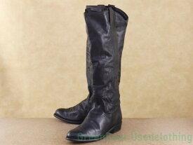 【USED】レディース【フライ FRYE】ロングブーツ 黒 ブラック 23.5cm 【K007】【中古】
