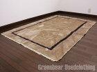 【USED】大きいサイズ◎ トライバルラグ ミックスインテリア リビング アンティーク家具 ウール絨毯【RAGL298】【中古】