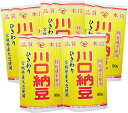 【川口納豆】 これぞ納豆!!三つ折納豆5個セットC(宮城県産大豆使用)ひきわり納豆5個のセットです国産 大豆 健康食品 大粒大豆使用 …