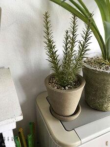 ローズマリーポット鉢にペイント少しシャビー加工フェイクグリーンシャビー鉢造花人工観葉植物インテリアグリーン光触媒付ミッドセンチュリースタイルミニ観葉植物