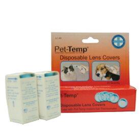 【その他厳選】Pet-Temp PT250用ディスポーザブルレンズカバー セット 40枚入りx 3箱【3,300円以上で送料無料 15時までの注文で当日発送 正規品 病中・病後・介護サポート 犬用】