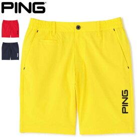ピン メンズ ゴルフウェア ナイロン ストレッチ ショートパンツ 621-1132006 M-LL 2021年春夏モデル 【あす楽対応】