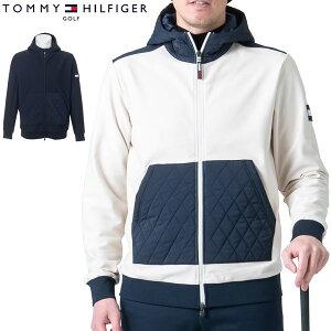 トミーヒルフィガー ゴルフ ウェア メンズ フラッグワッペン フリース フルジップ パーカー THMA190 2021年秋冬モデル M-XL