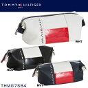 トミー ヒルフィガー ゴルフ TOMMY HILFIGER THE FACE ポーチ THMG7SB4 ◆ ゴルフ ゴルフ用品 ラウンド用品 ゴルフバッグ ラウ...