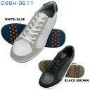 朝日ゴルフ メンズ ゴルフシューズ スパイクレス CSSH-3611 ◆ ゴルフ用品 ゴルフ メンズシューズ 靴 スニーカー ホワイト 白 ブラック 黒