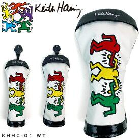 キースヘリング ゴルフ ドライバー用 / フェアウェイウッド用 / ユーティリティ用 ヘッドカバー 3Figs KHHC-01 【あす楽対応】