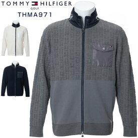 トミーヒルフィガー ゴルフウェア ロゴジャガード ジップアップ ニットセーター THMA971 2019年秋冬モデル M-XL 【あす楽対応】