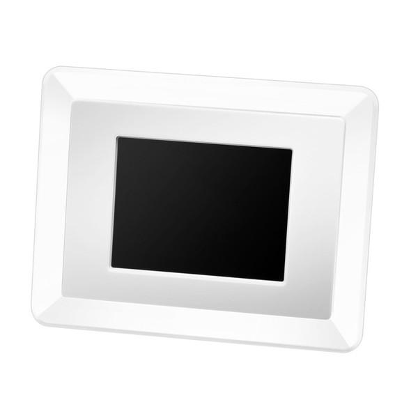 グリーンハウス 3.5インチ デジタルフォトフレーム クリア (フレーム3色付) 「GHV-DF35CW」カレンダーや時計にもなるフォトフレームです。