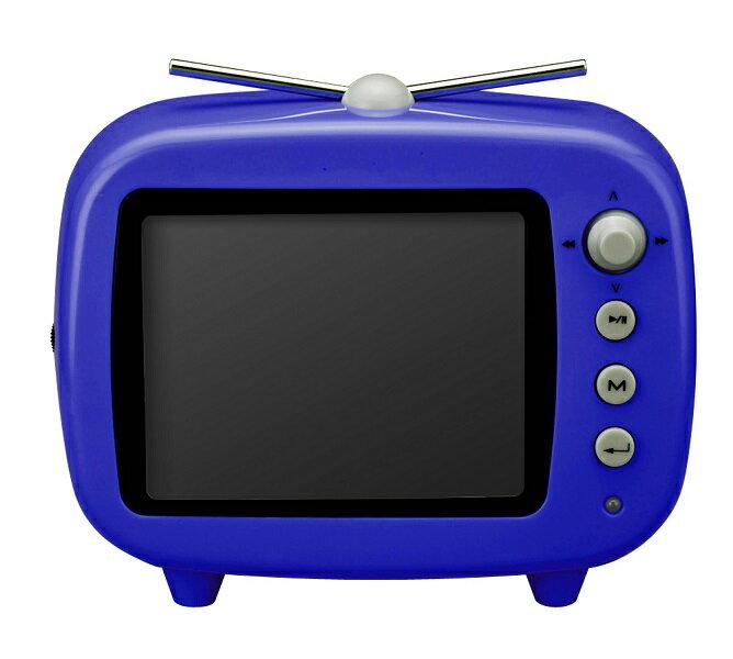 【特価品 ポイント10倍!】グリーンハウス 3.5インチ テレビ型デジタルフォトフレーム 「GHV-DF35TVB」 ブルー