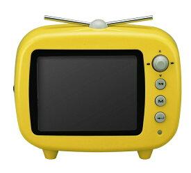【送料無料・アウトレット】 3.5インチ テレビ型デジタルフォトフレーム 「GHV-DF35TVY」 イエロー