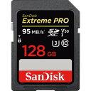 SanDisk 128GB Extreme Pro SDXC UHS-I V30 U3 Class10 「SDSDXXG-128G」 海外パッケージ品