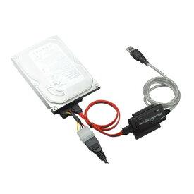 【送料無料・アウトレット】SATA変換ケーブル USB変換アダプタ USB2.0 USB1.1 GH-USHD-IDESA 50cm | sata usb 変換 2.5インチ 3.5インチ HDD 給電 ACアダプタ IDE usb変換アダプター