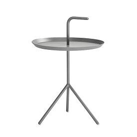 【 送料無料 】 HAY (ヘイ) サイドテーブル DLM SIDE TABLE グレー パウダー仕上げ φ380mm | テーブル リビングテーブル コーヒーテーブル リビング ダイニング 北欧家具 インテリア スチール インダストリアル シンプル おしゃれ デンマーク 北欧