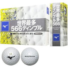 【送料無料】MIZUNO NEXDRIVE WHITE 5NJBM32810 ミズノ ネクスドライブ ホワイト ボール 2ダースパック 24球 ゴルフ