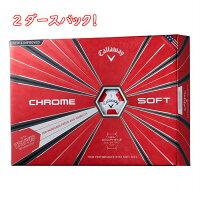 CallawayCHROMESOFTTRUVISWHITE/REDキャロウェイクロムソフトトゥルービスホワイトレッドゴルフボール2ダースパッククロームソフト