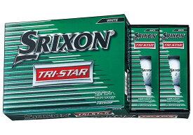 【送料無料】DUNLOP SRIXON TRI-STAR WHITE ダンロップ スリクソン トライスター ホワイト ボール 2ダースパック 24球 ゴルフ