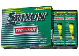 【送料無料】DUNLOP SRIXON TRI-STAR PREMIUM PASSION YELLOW ダンロップ スリクソン トライスター プレミアムパッションイエロー ボール 2ダースパック 24球 ゴルフ
