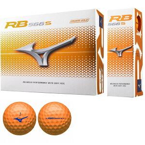 MIZUNO RB 566S ORANGE GOLD 5NJBM73940 ミズノ アールビー オレンジゴールド ボール 1ダース 12球 ゴルフ