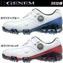MIZUNO GENEM008 Boa 51GM1800 22 62 ミズノ ジェネム ボア ゴルフシューズ ホワイトブルー ホワイトレッド ゴルフシ…