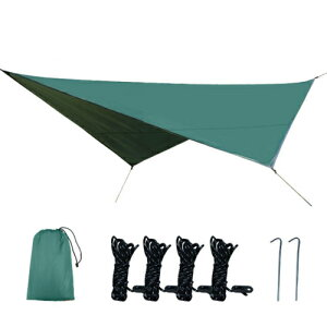 タープ 天幕 シェード 防水軽量 グランドシート キャンプ テント ピクニック マット シート フライシート サンシェルター 収納袋付き