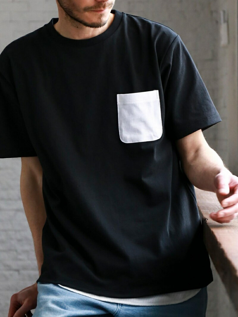 [Rakuten BRAND AVENUE]【WEB限定】SC ★★ドライ コンビPKT クルー Tシャツ <機能性生地> 吸水速乾 UNITED ARROWS green label relaxing ユナイテッドアローズ グリーンレー