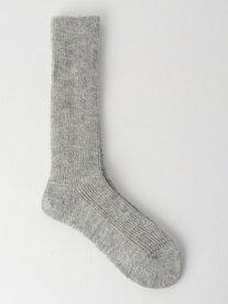 [Rakuten Fashion]FMアルパカリブソックス UNITED ARROWS green label relaxing ユナイテッドアローズ グリーンレーベルリラクシング ファッショングッズ ソックス/靴下 グレー ホワイト ベージュ