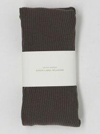 [Rakuten Fashion]FMサイドスリットリブレギンス UNITED ARROWS green label relaxing ユナイテッドアローズ グリーンレーベルリラクシング ファッショングッズ ソックス/靴下 ブラウン ブラック
