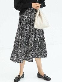 [Rakuten Fashion]CFCサテンギャザースカート UNITED ARROWS green label relaxing ユナイテッドアローズ グリーンレーベルリラクシング スカート ロングスカート ホワイト ベージュ ブラウン イエロー グリーン ブ【送料無料】
