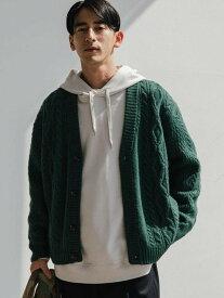 [Rakuten Fashion]SCSHEPLEYアランVネックカーディガン UNITED ARROWS green label relaxing ユナイテッドアローズ グリーンレーベルリラクシング ニット カーディガン カーキ ブラック ベージュ【送料無料】