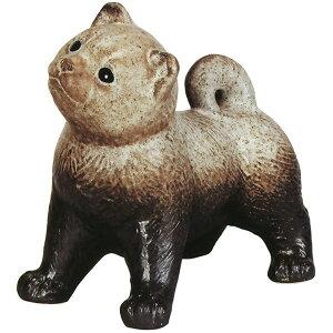【日本製】 信楽焼 犬なーに 粉引風 10号 全高30cm×幅32cm しがらきやき 陶器製 国産品 焼き物 いぬ イヌ 置き物 インテリア オブジェ