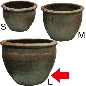 水鉢 JAR A-2 Lサイズ 全高48cm×直径66cm 陶器製 スイレン鉢 水蓮鉢 睡蓮鉢 器 ビオトープ ハイドロカルチャー 水生植物