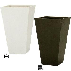 植木鉢 ファイバークレイ ゼータ スクエア トール プランター 65型 13号 全高65cm×口40cm 底穴あり セメント ガラス繊維 軽量プランター