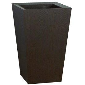 鉢カバー 木製 ウッドプランター スクエア 底板付き 木目 8〜10号用 全高70cm×口45cm 底穴なし プランター 植木鉢 鉢 寄せ植え 観葉植物用
